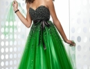 Ball Gown Sweetheart Beading Gorgeous Satin Sash Bow Designer Evening Dress