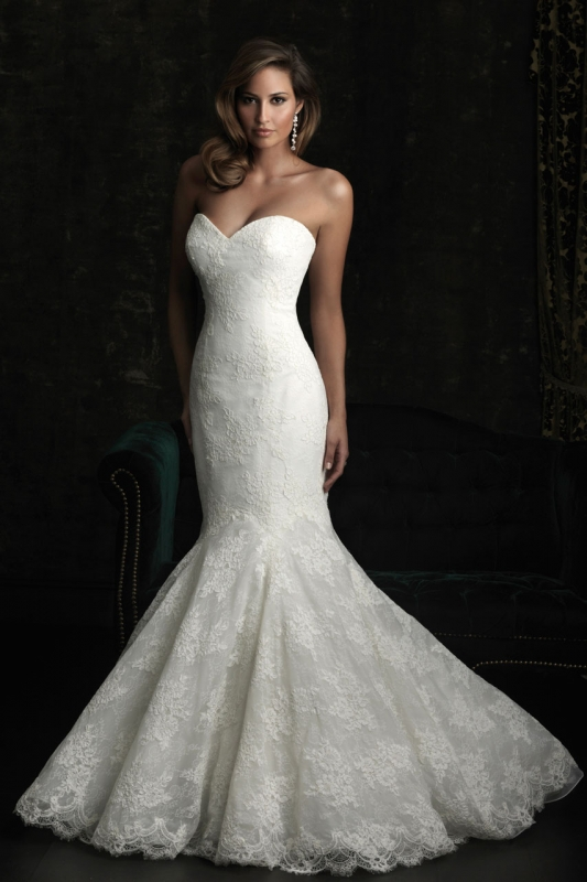 Свадебные платья рыбка модели