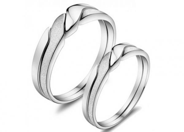 Обручальные серебряные кольца парные купить
