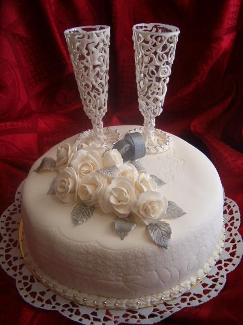 Свадебные торты из мастики своими руками