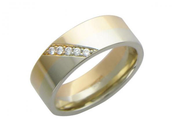 кольцо с дорожкой из камней