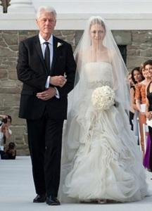 свадебное платье челси клинтон
