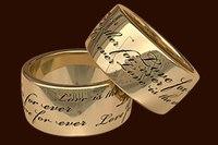 гравировки на обручальных кольцах фразы