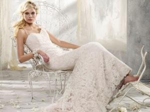 фото кружевного свадебного платья