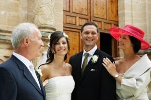Поздравления молодожёнов от родителей жениха