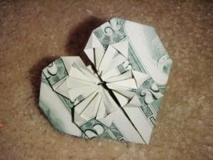 оригами из денег на свадьбу