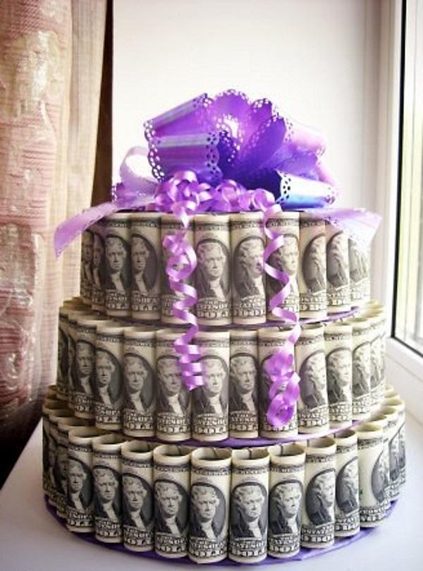 Торт на свадьбу своими руками из денег фото
