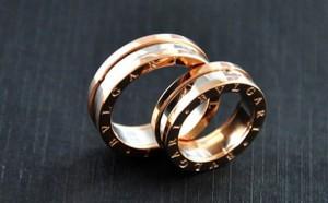 парные обручальные кольца булгари