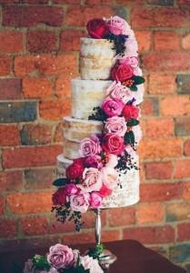 торт на свадьбу без мастики