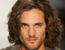 2013 trendy men long curly haircuts with very long wavy bangs