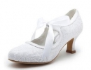 Top-Quality-Satin-Upper-Mid-Heel-Closed-toe-With-Ribbon-Tie-Bridal-Party-Wedding-Shoes