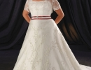Strapless-Queen-Anne-Neckline-Beading-Satin-Wedding-Dress-WP-0031