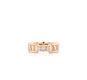 Перстень Атлас из розового золота с тремя бриллиантами