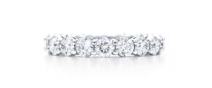 обручальное кольцо из платины, с бриллиантами