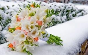 Букет невесты зимой фото