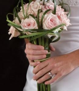 букет невесты на стеблях