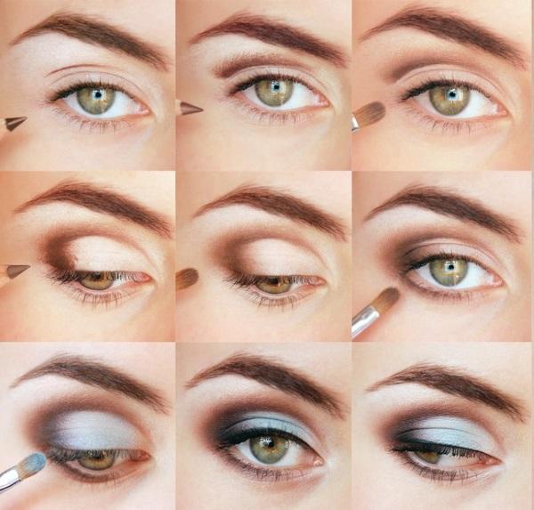 свадебный макияж для зеленых глаз пошагово фото