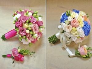 букет невесты на проволоке