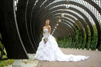 свадебное платье пышное со шлейфом фото